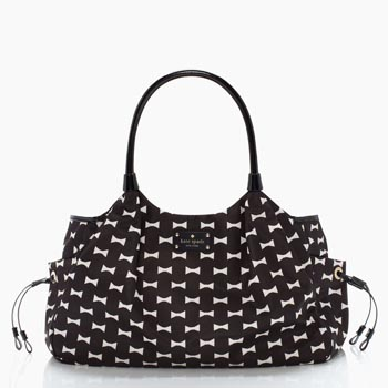 Bow Shoppe Stevie Baby Bag Black/Clotted cream