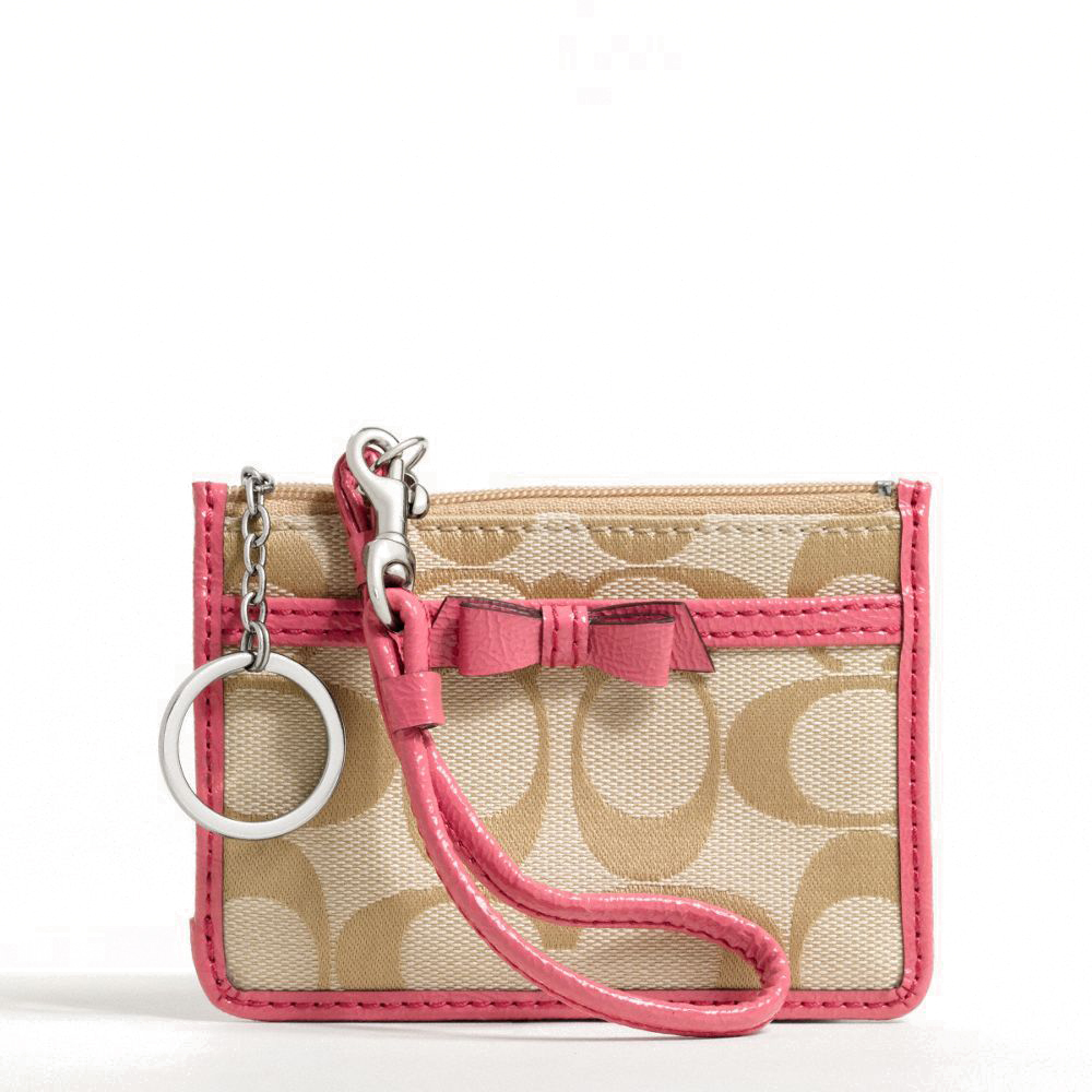 Signature Bow ID Skinny Light Khaki / Coral # F48775