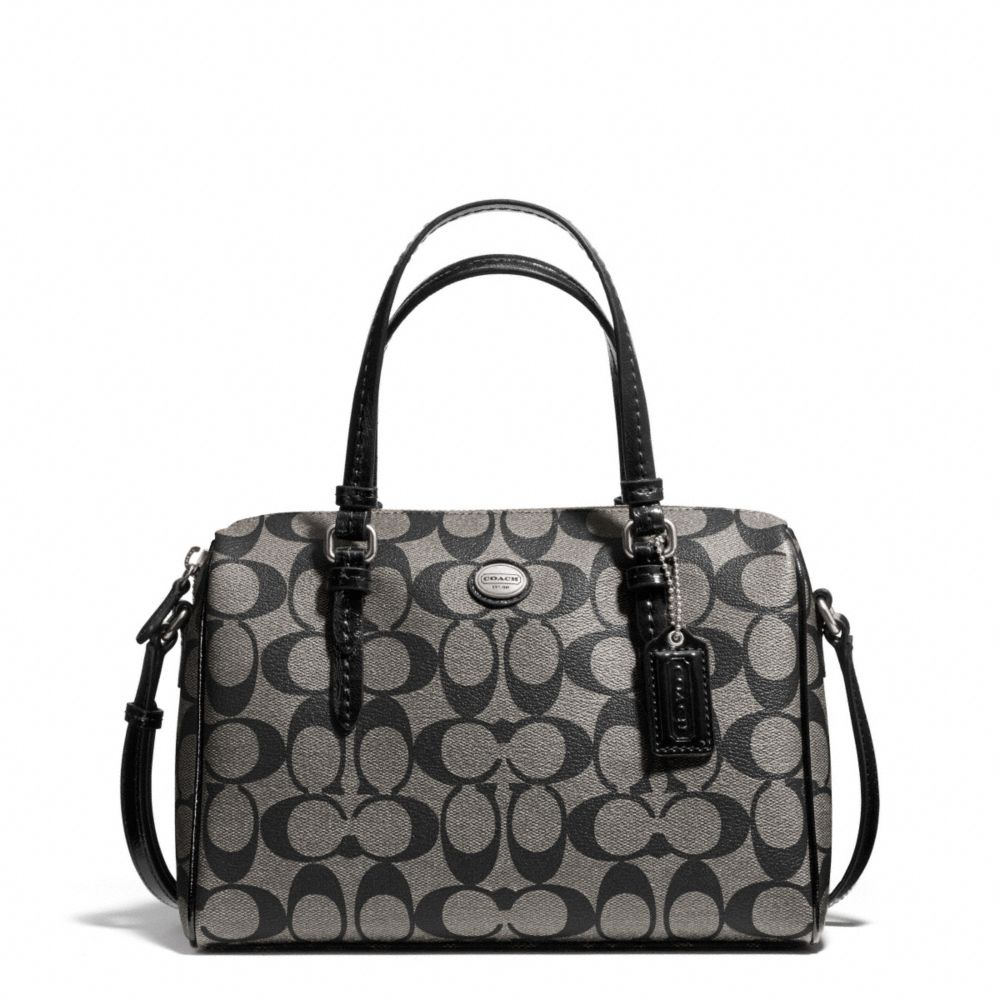 Peyton Mini Signature Cora Domed Satchel Black
