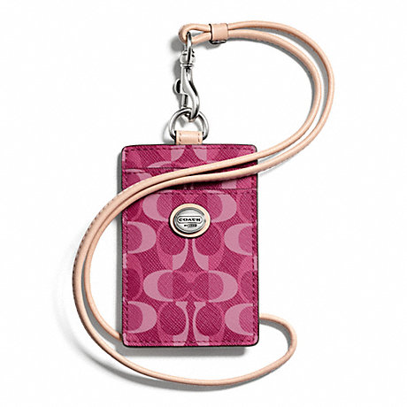 Coach Peyton Dream C Lanyard ID Bordeaux