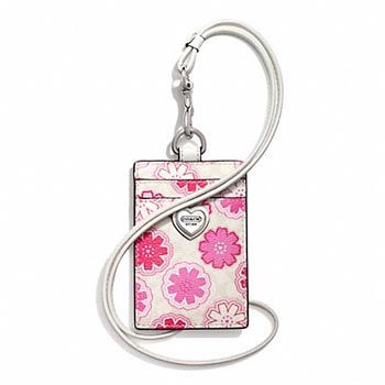 Floral Print Lanyard ID Case