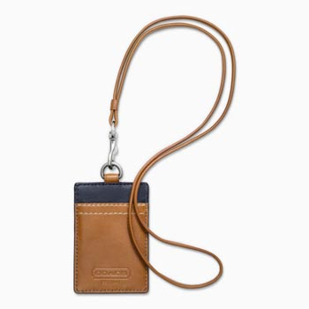Heritage Web Leather Lanyard