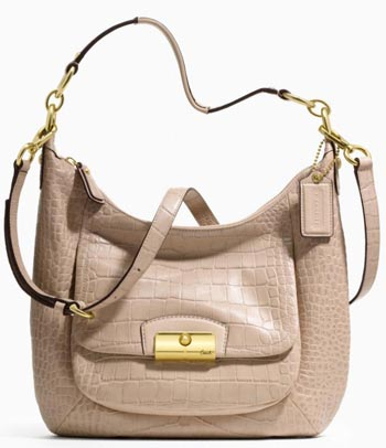 Kristin Embossed Exotic Hobo Sand