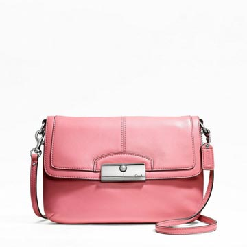 Kristin Leather Flap Crossbody Rose Pink