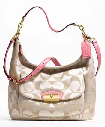 Kristin Signature Large Hobo Khaki & Rose