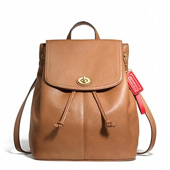 Park Leather Backpack British Tan