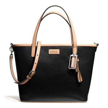 Park Metro Leather Small Tote Black