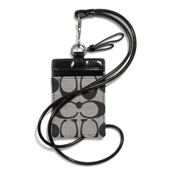 Park Signature Lanyard ID Case Black