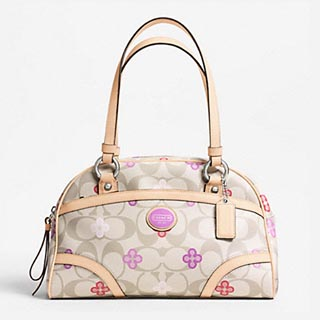Signature Clover Flower Leather Satchel
