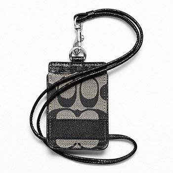 Signature Stripe Lanyard ID Case